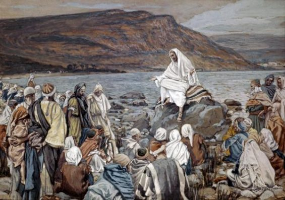 Jesus Teaching by the Seashore