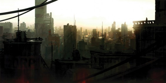 City at dawn (Giclee)