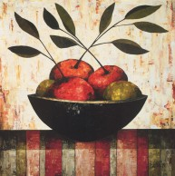 Fruit Bowl on Silk