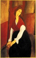 Jeanne Hebuterne in Red Shawl