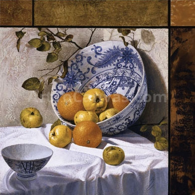Composition with Asian Bowls (Contemporary Still-Life #6)