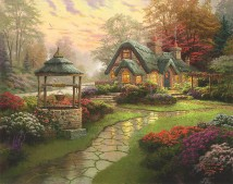 MakeAWishCottage ThomasKinkade 42-33