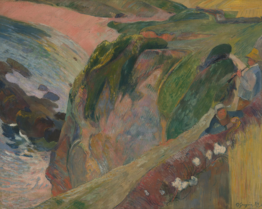 Gauguin, Paul - The Flageolet Player On The Cliff
