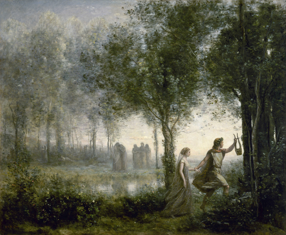 Jean-Baptiste-Camille Corot - Orpheus Leading Eurydice From The Underworld