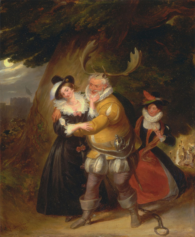james_stephanoff_-_falstaff_at_hernes_oak_from_22the_merry_wives_of_windsor22_act_v_scene_v