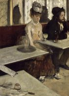 24x32 Edgar Degas In a Café