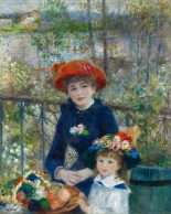 30x38 Two Sisters On The Terrace Pierre-Auguste Renoir