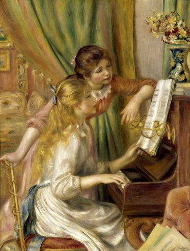 30x40 Young Girls at the Piano Pierre-Auguste_Renoir