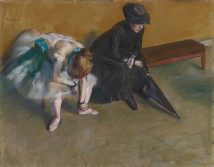 32x24 Edgar Degas Waiting