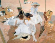 Under the awning Joaquín Sorolla Bastida