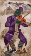 Green Violinist, 1924 Marc Chagall LOW