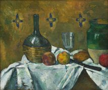 Still Life Flask Glass and Jug Paul Cézanne LOW