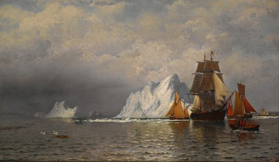 whaler and fishing vessels near the coast of labrador bradford william LOW