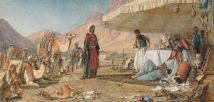 A Frank Encampment in the Desert of Mount Sinai, 1842 John Frederick Lewis LOW