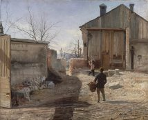 Anshelm Schultzberg - Demolishing The Old Orphanage - 1886