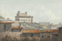 John Warwick Smith - The Villa Medici - 1784