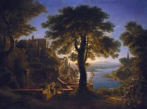 Karl Friedrich Schinkel - Castle By The River - 1820