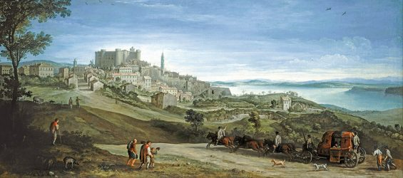 Paul Bril – Art Gallery of South Australia 20078P34. Title: View of Bracciano. Date: early 1620s. Materials: oil on canvas. Dimensions: 74.5 x 163.6 cm. Acquisition date: 2007. Nr.: 20078P34. Source: http://commons.wikimedia.org/wiki/File:Paul_Bril_-_View_of_Bracciano_-_Google_Art_Project.jpg. I have changed the contrast of the original photo.