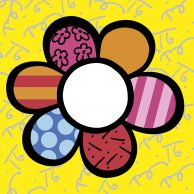 Flower Power I Britto