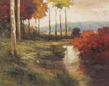 Autumn River in Tuscany