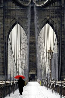 Brooklyn Bridge Meets Red