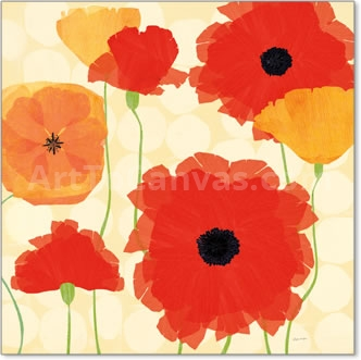 California Poppies and Dots