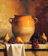 Confit Jar with Pears & Grapes