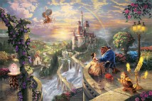 BeautyAndTheBeastFallingInLove ThomasKinkade 42-28