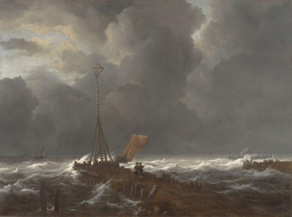 Jacob_van_Ruisdael_-_Rough_Sea_at_a_Jetty