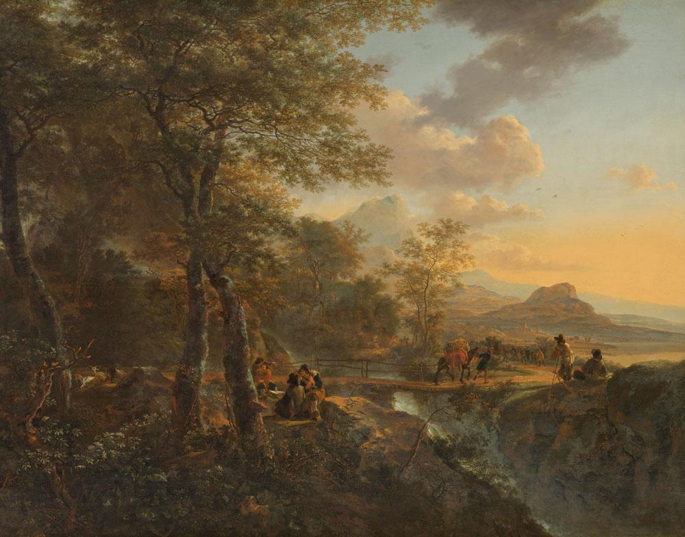 Jan Both, 1634 - 1652 - Italiaans Landschap Met Tekenaar