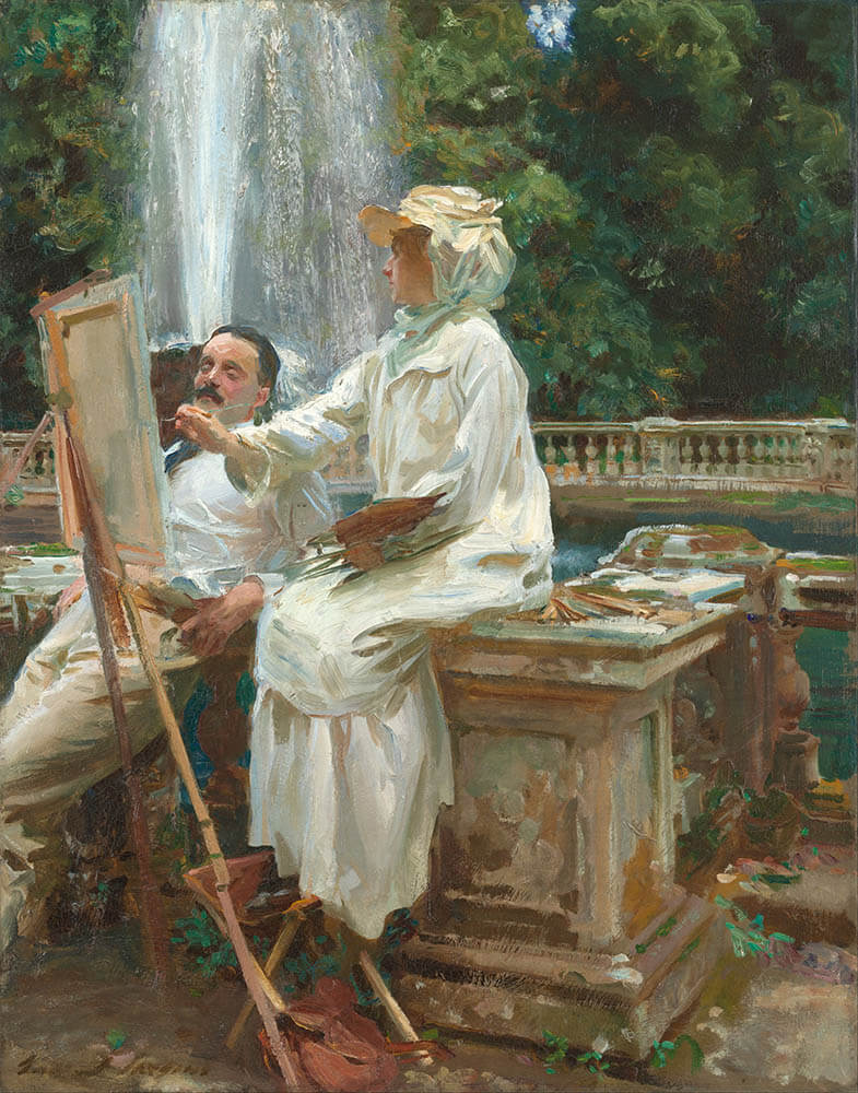 The Fountain, Villa Torlonia, Frascati, Italy - John Singer Sargent