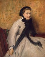 24x30 Edgar Degas Portrait of a Woman in Gray