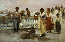 Frank Duveneck - Water Carriers - 1884